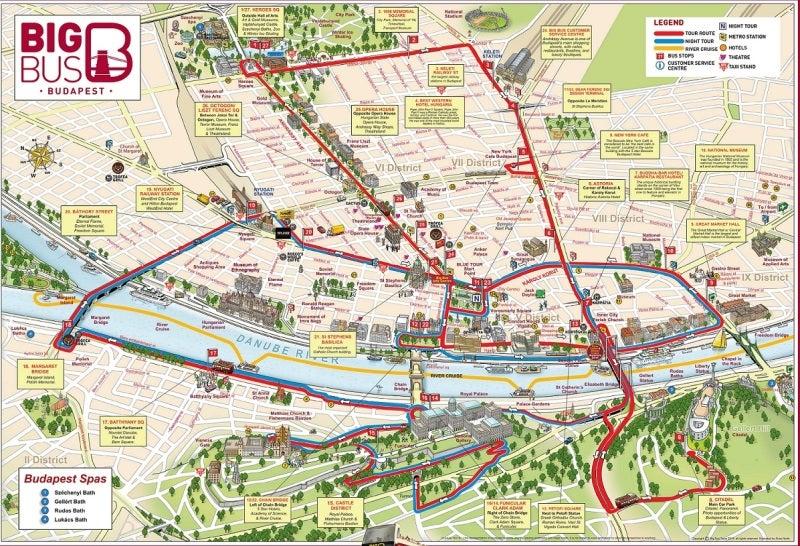BIG BUS ビッグバス ブダペスト 観光ルート