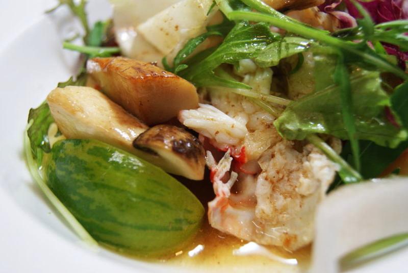 松茸とタラバ蟹