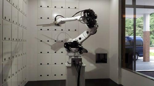 変なホテル 荷物預かり所もロボット