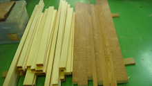吟味された台輪などに使い檜材