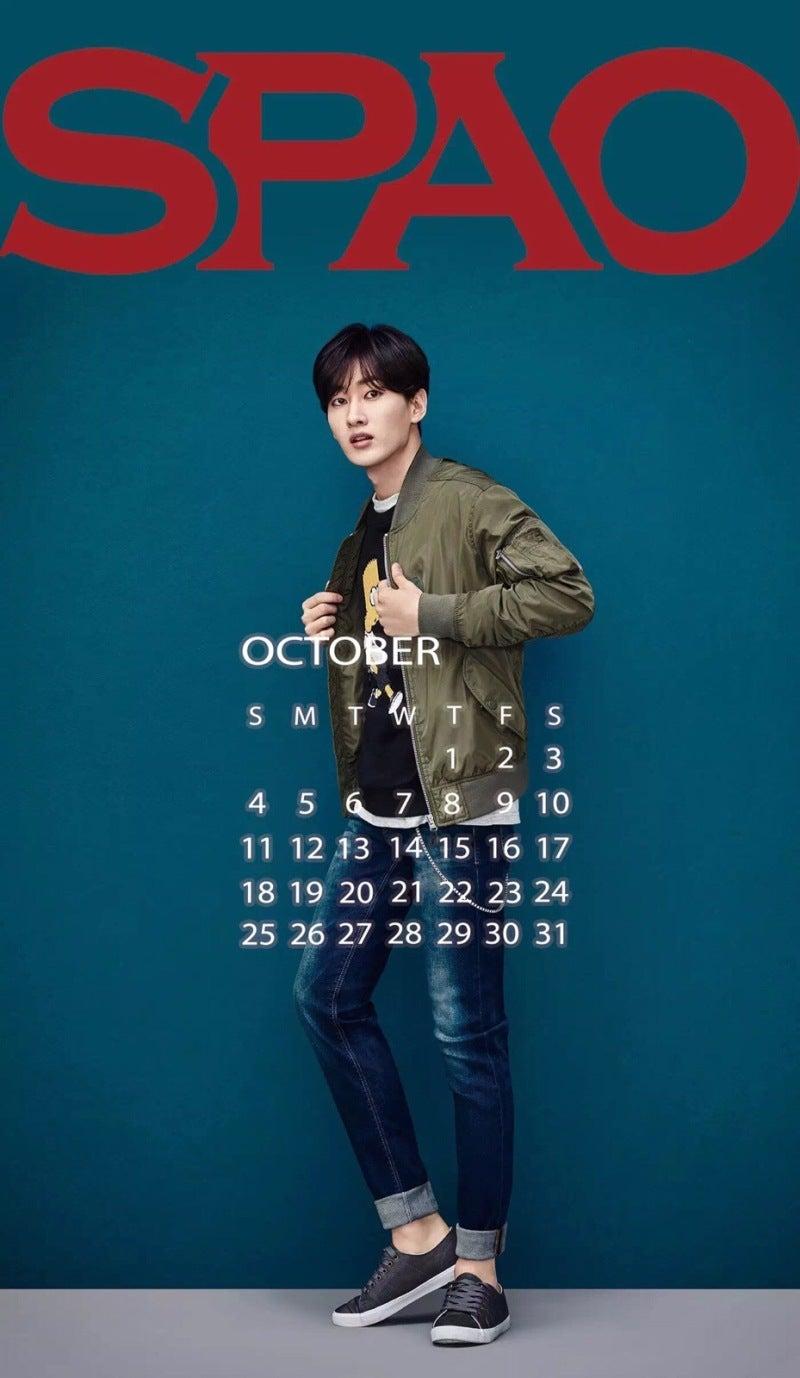 Super Junior Spao 10月カレンダー スマホ壁紙 高画質画像7枚 K Pop Bigbang Twice Exo 防弾少年団 東方神起 Super Junior最新情報