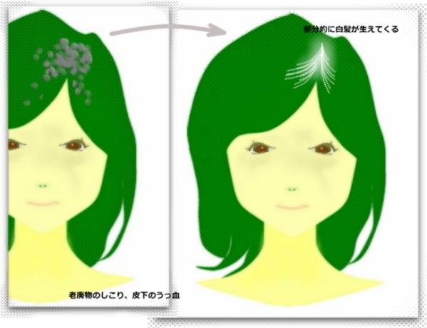 女性の白髪、髪の老化 頭皮 マッサージやり方