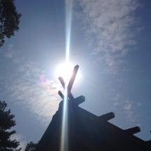 天地を貫く光^^