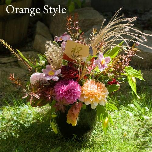 秋のフラワーアレンジ