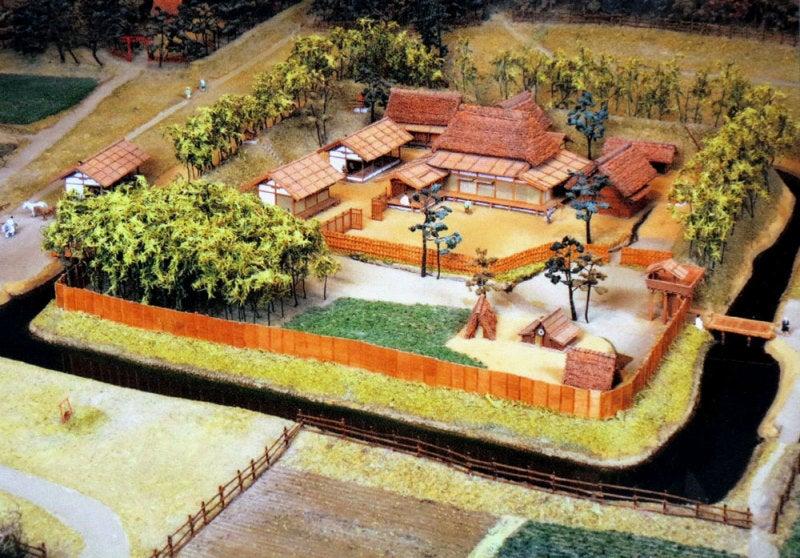 羽黒城/④復元模型の写真