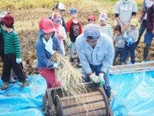 20151003稲刈りツアー29脱穀