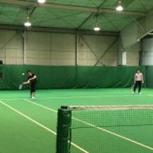 会社仲間とテニス!