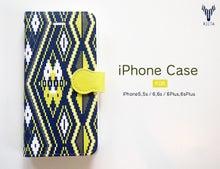 手帳型iPhoneケース ネイティブ柄