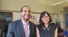ボンド先生とCVSの学生マヤ