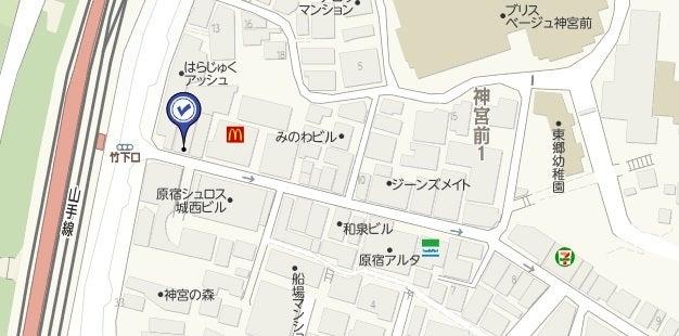 プライム原宿,地図