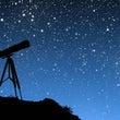 冬の空と星空と