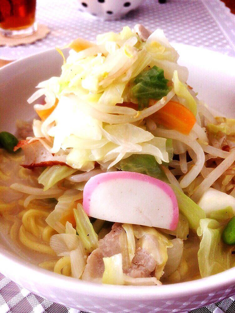 「リンガーハットの野菜たっぷりちゃんぽん」の再現レシピ!!!何と野菜480g!