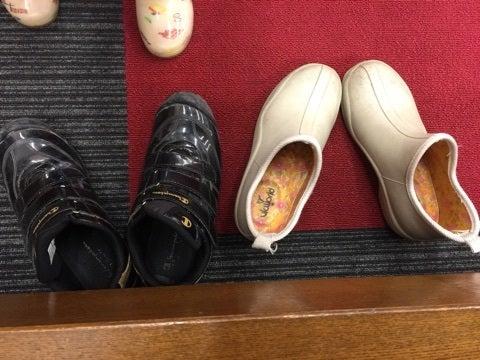 靴の置き方。