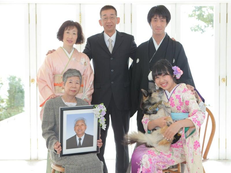亡くなった祖父の遺影写真と撮影