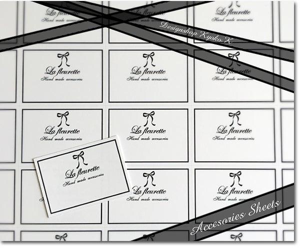 イヤリング用アクセサリー台紙・La fleurette様|デザイン大好き♪ショップカード・名刺・ショップシール・チラシ・リーフレット