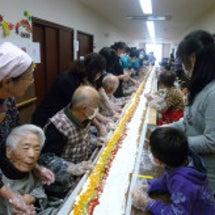 ロールケーキ作り開催…