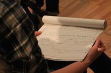 津村先生から受講者に渡された囃子の譜