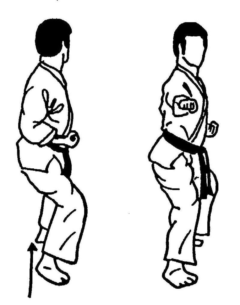 基本型Ⅰ 返し突き(四股突き)