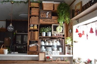 DIY リビング 飾り棚