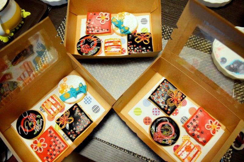 東京 レッスン アイシングクッキー icing cookies デコレーション 和柄 Japan 日本 和 かわいい パティシエ プロ レベル高い 技術 講師