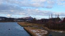 12月13日 残雪の残る余市川
