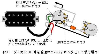 ハムバッカー 配線 4 芯