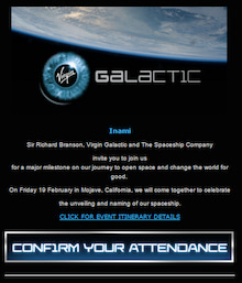 宇宙,virgin galactic