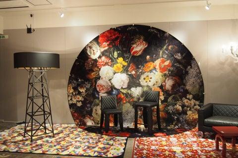 moooiカーペット&照明の展示