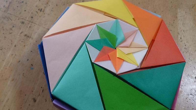 ハート 折り紙:折り紙 八角形-ameblo.jp
