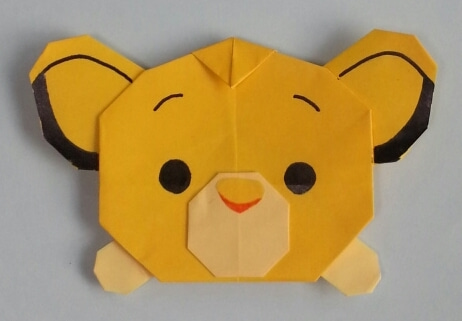 クリスマス 折り紙:折り紙 ライオン-ameblo.jp