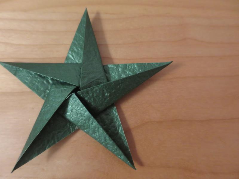 折り紙_立体星