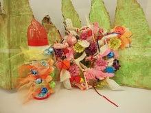 クリスマスリースと万華鏡chubiこども絵画造形教室