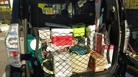 キャンプ用品車への収納2016