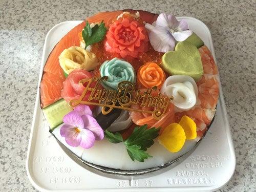 フラワー 寿司ケーキ