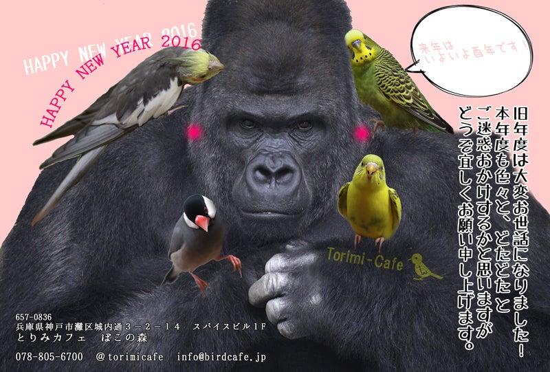 2016鳥カフェ年賀状