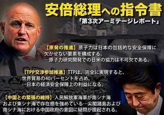 安倍総理への指令書「第3次アーミテージレポート」