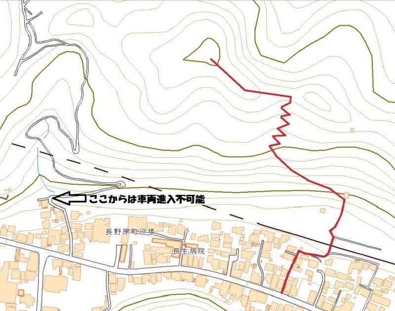 長野原城⑯国土地理院の地図