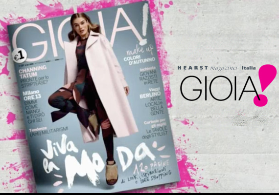 イタリアのファッション誌 『GIOIA』に浜田ブリトニーが掲載