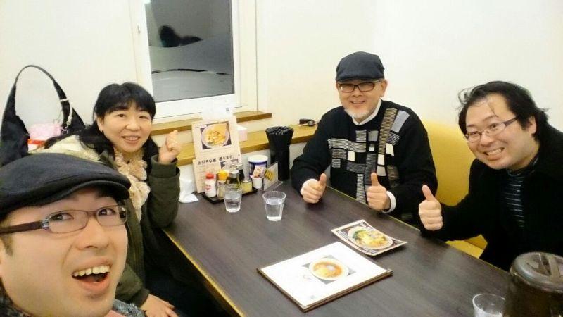 イカすご夫婦とラーメンを食す平田兄弟