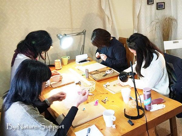マクラメ編み教室-フレーム包み編み初級編