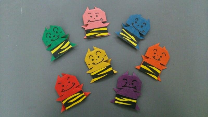 紙 折り紙 折り紙 節分 : ameblo.jp