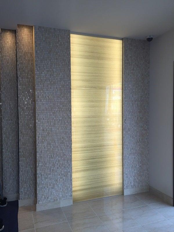 光壁「和紙合わせガラス」施工例