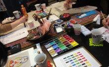 彩色仏画体験