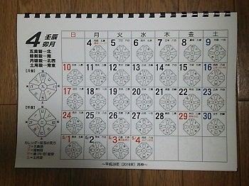 2016年版日盤カレンダー中身
