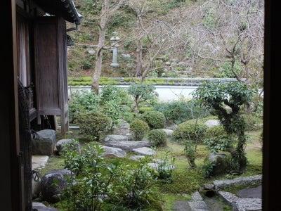 當麻寺中之坊書院から眺める庭園「香藕園」