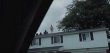 屋根の上に!