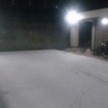 極寒の中、雪