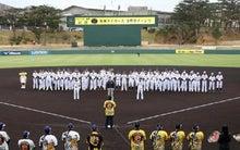 春季キャンプが行われる宜野座村野球場