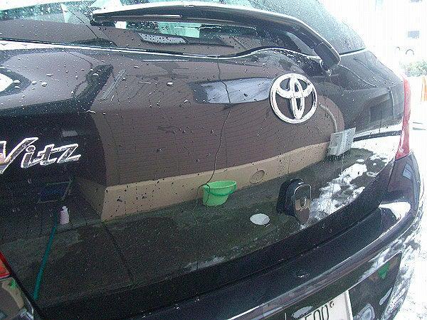 コーティング車用中性シャンプーでの洗車後
