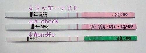 ラッキーテスト 妊娠検査薬 陽性 ET5(高温期8日目)からのフライング画像まとめ